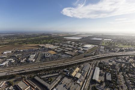 Aerial view of the Ventura 101 Freeway in Oxnard, California.
