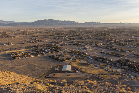Early morning view of northwest Las Vegas from the top of Lone Mountain in Clark Counnty Nevada.