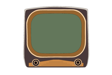 Vintage 1950s television vector illustration. Illustration