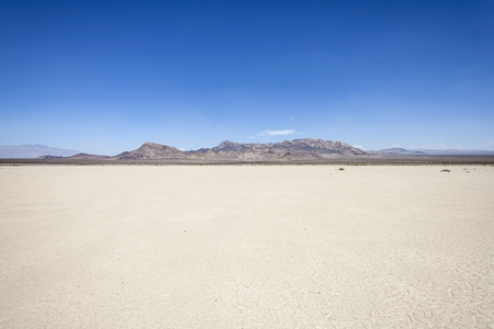 Silurian dry mud flat lake bed near Death Valley in Californias vast Mojave desert.