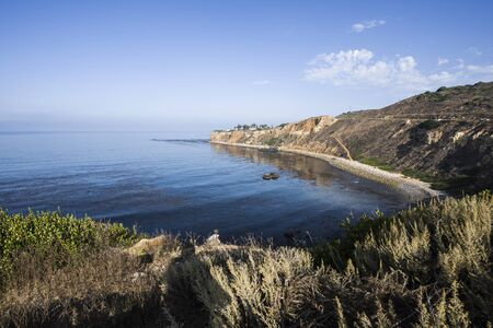 Scenic coast view of Pelican Cove and Point Vicente in Rancho Palos Verdes Estates near Los Angeles California. Imagens
