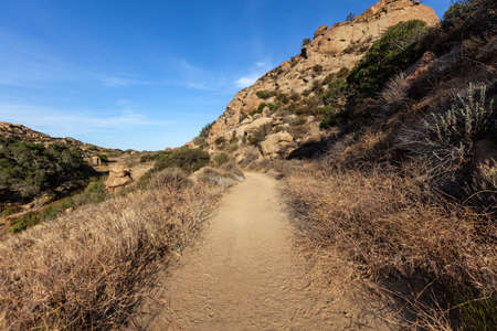 Dirt road nature path at Rocky Peak Park near Los Angeles and Simi Valley in Ventura County California. Reklamní fotografie