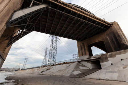 Under the now demolished 6th street bridge at the Los Angeles river near downtown LA California.