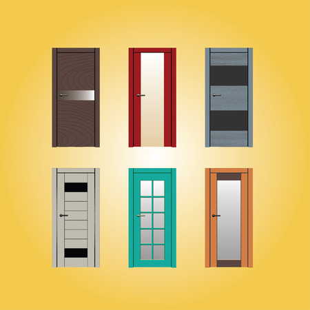 door frame fix door illustration design