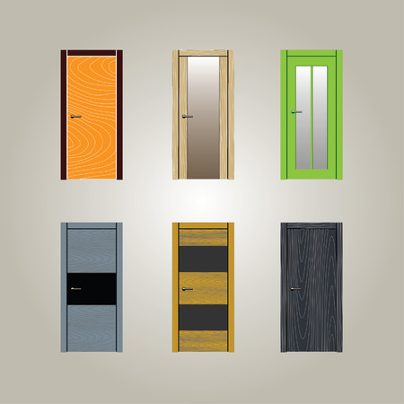 Door illustration design Vector