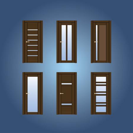 Door illustration design Vector