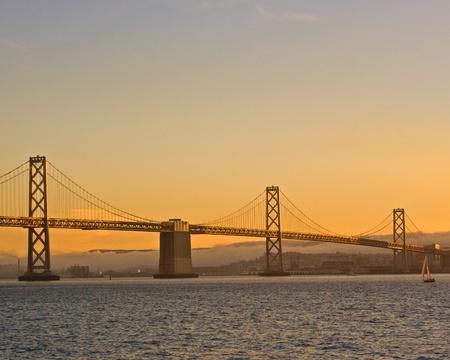 San Francisco Bay Bridge at Sundown photo