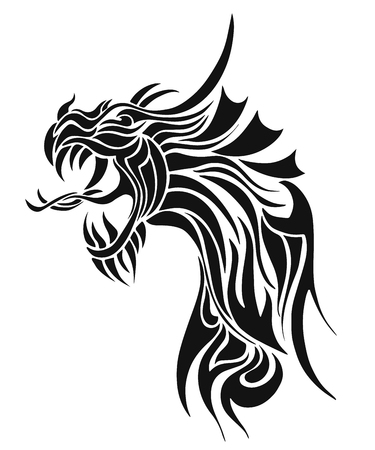 dragon tattoo: Vecteur. Dragon. Tatouage