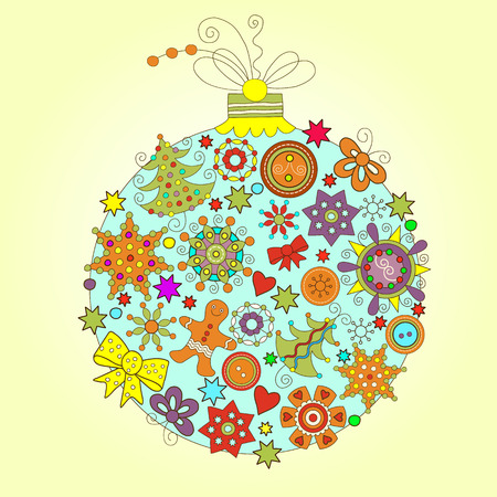 decorative design: christmas ball