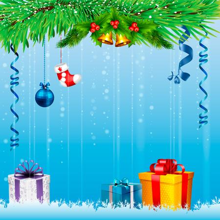 christmas background: Christmas card. Christmas background Illustration