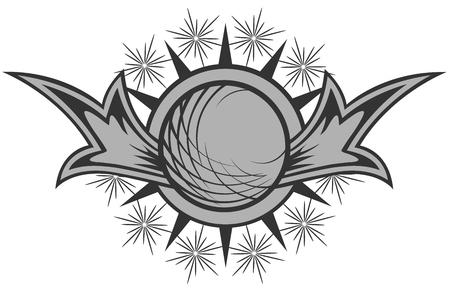round logo: dark round logo Illustration