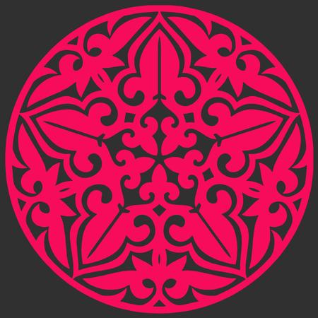 round logo: Pink round logo