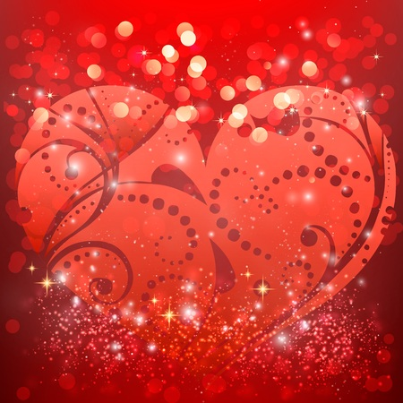 weeding: Happy valentines day and weeding design elements. Vector illustration. Hearts. Be my Valentine. Illustration
