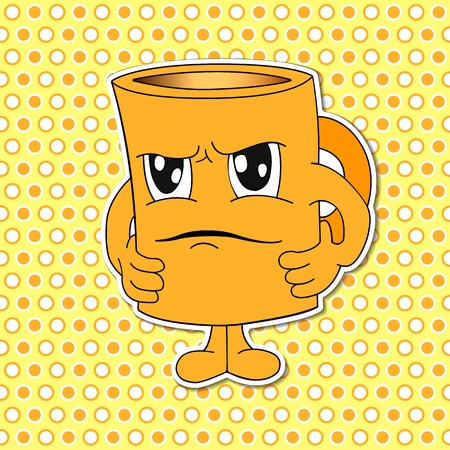 emote: cartoon Mug Cup emotions Icons.