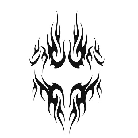 crimp: tribal tattoo. illustration without transparency.