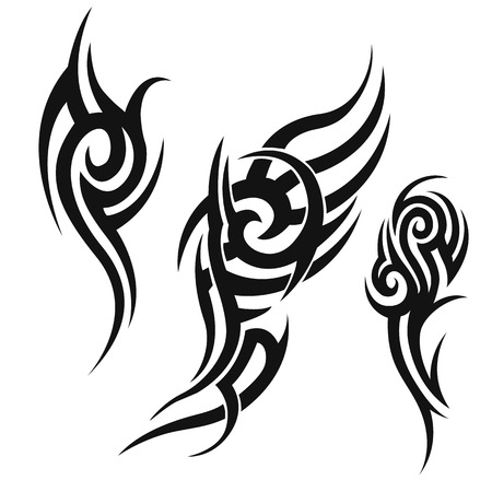 crimp: tribal tattoo.illustration without transparency.