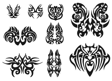 the irish image collection: Tribal Tattoo Pack. illustration Stock Photo