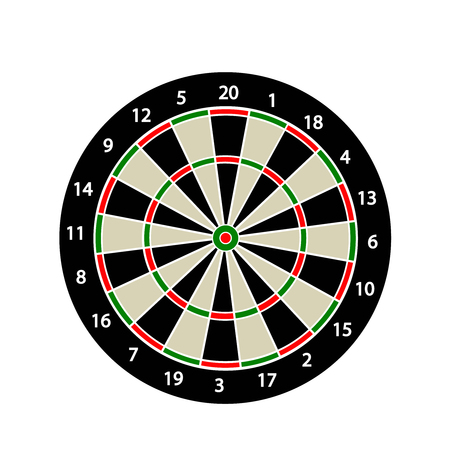 dart board: Dart board icon illustration