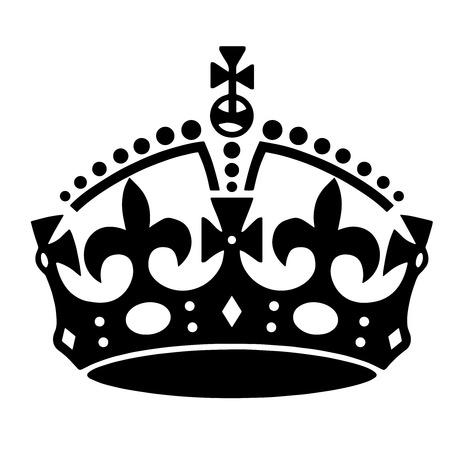 crown tattoo: Crown tattoo illustration Stock Photo