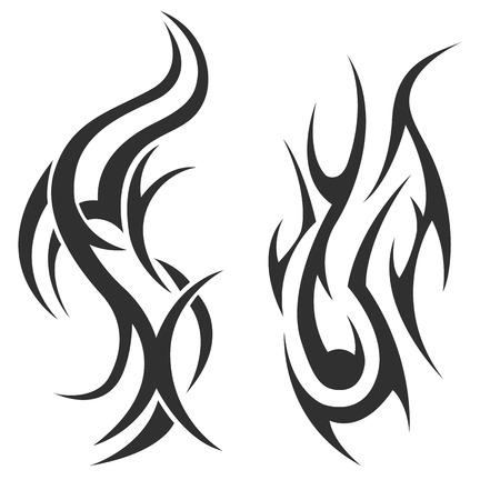crimp: tribal tattoo. illustration without transparency. Black tattoo. Set of tribal tattoo. Line tribal tattoo. Mens tattoo. Womens tattoo.