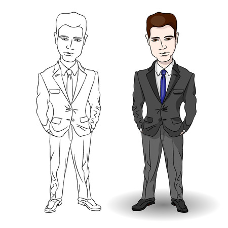 attractive: Attractive professional businessman. Vector illustration Illustration