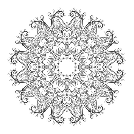 choco: Ornate flowers henna colors vector mandala in indian style