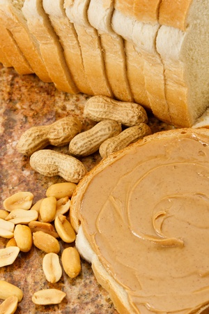 peanut butter: Peanuts demonstrate a food allergen that is also a nutritious lunch