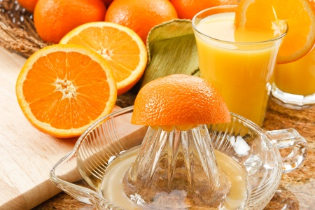 good: Delicious fresh squeezed orange juice is filled with Vitamin C and Potassium making it a good healthy choice for a natural beverage with breakfast.