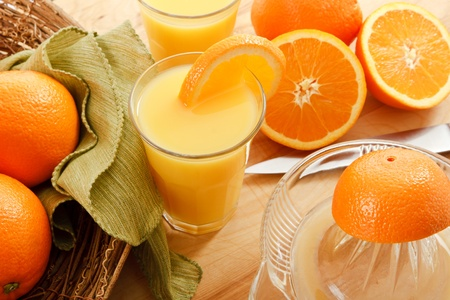 juice squeezer: Rise and Shine - its time to wake up to a healthy breakfast treat with fresh squeezed orange juice.