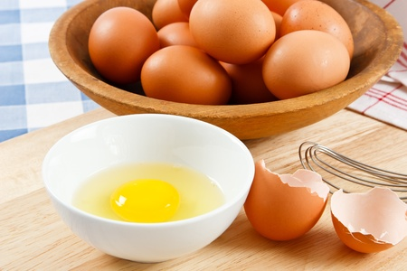 allergen: Eggs are a healthy food and a dangerous allergen for anyone with a food allergy Stock Photo