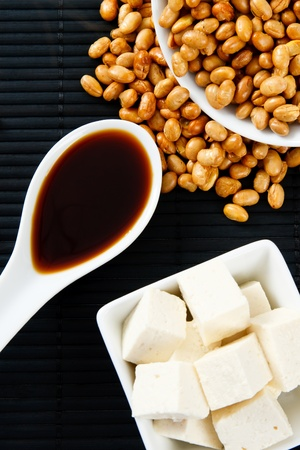 protein source: Soybeans, Soy Sauce and Tofu represent serious food allergens and a source of protein