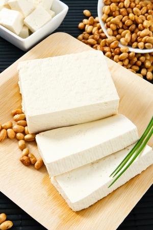 soja: Le soja et le tofu sont une bonne source de prot�ines et d'un allerg�ne alimentaire grave. Banque d'images