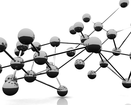 3D render of Abstract view of molecules.