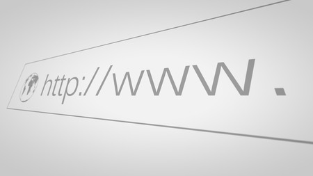 Closeup of Computer Screen With Address Bar of Web Browser Stock Photo
