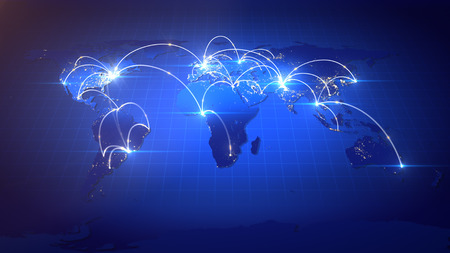Business or Internet Concept of Global Network.