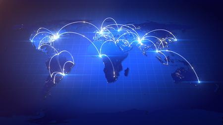 Geschäft oder Internet-Konzept des Global Network. Standard-Bild