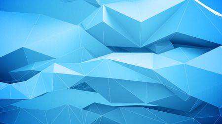 vj: Abstract geometric shapes background. Blue Colors.