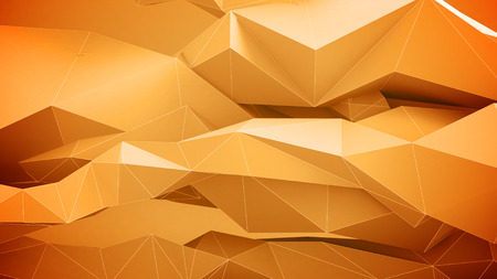 vj: Abstract geometric shapes background. Orange Colors.