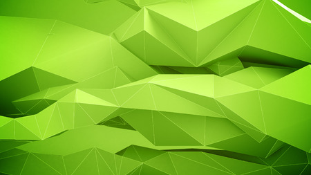 vj: Abstract geometric shapes background. Green Colors.