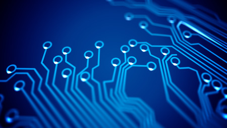 mother board: Abstract Circuit boards signals. Depth of Fields. Stock Photo