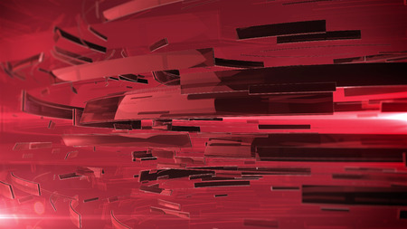 dof: 3d abstract business sphere. Red color and DOF. Stock Photo