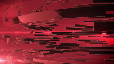 dof: 3d abstract business sphere. Red color and DOF. v.3 Stock Photo