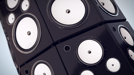 hi fi: Hi fi audio stereo system sound speakers background