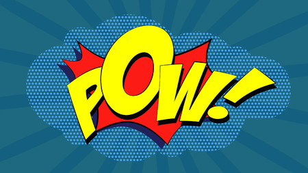 pow: Pow! - Comic book explosion in pop art style.