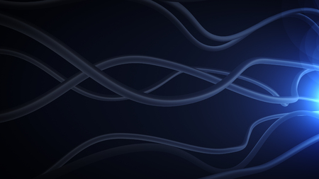 leading light: Optical channels are leading to the light through the darkness Abstract Background.