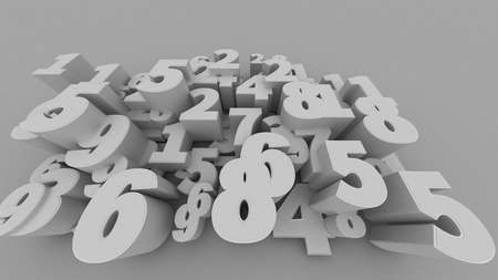 numbers abstract: Abstract 3D numbers background computer generated render. Stock Photo