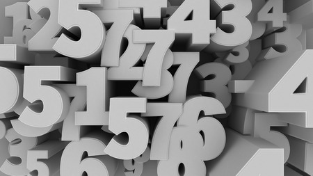 numbers background: 3d illustration of Numbers Background.