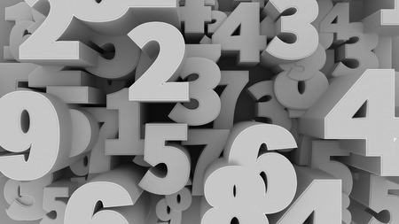 numbers background: 3d illustration of Abstract Numbers Background.
