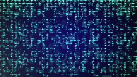 hexadecimal: Abstract Blue Technology Background. Binary Computer Code. Programming  Coding  Hacker concept.