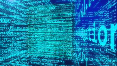 3d illustration of Data Code Digital Technology. Programming code concept.